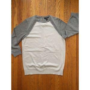 J. Crew Gray Lightweight Merino Sweater
